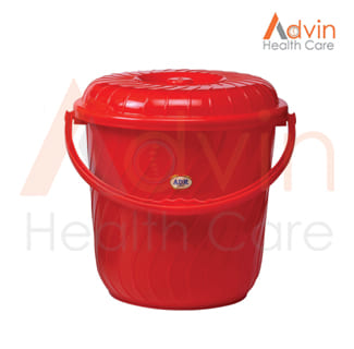 Bucket Plastic With Cover