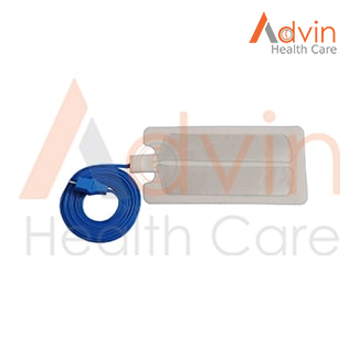 Disposable Adult Use Electrosurgical Bipolar Patient Plate with Cable