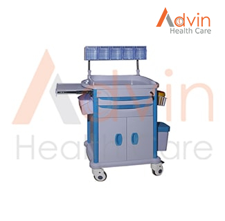 Hospital ABS Plastic Medical Emergency Anesthesia Cart Trolley