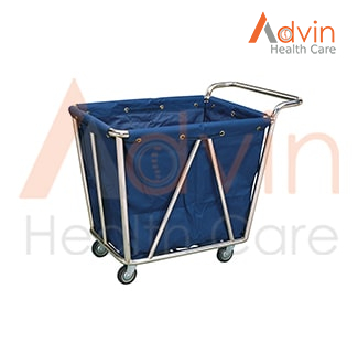 Hospital Heavy Washable Linen Laundry Trolley With Handle