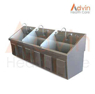 Hospital Scrub Sink Three Bay