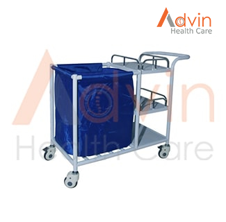 Medical Stainless Steel Linen Trolley Cart
