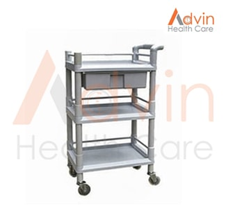 Plastic Medical Utility Cart