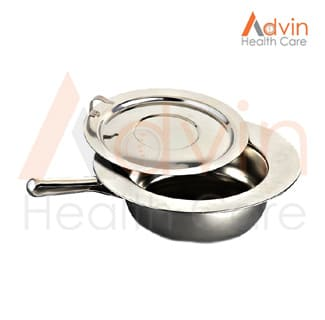 Round Bed Pan With Lid