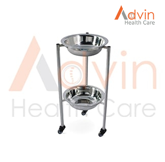 SS Medical Two Tier Bowl Stand
