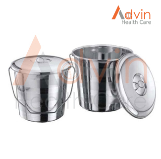 SS Pail Bucket With Cover