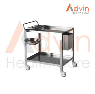 Stainless Steel Hospital Laundry Linen Trolley