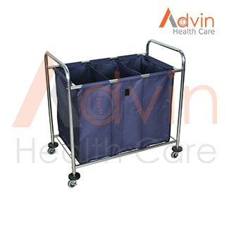 Stainless Steel Hospital Medical Waste Clean Laundry Trolley