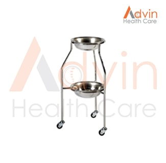 Two Tier Hospital Bowl Stand