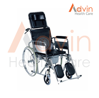 Reclining Wheelchair with commode
