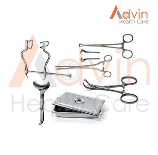 Surgical Abdominal Hysterectomy Instrument Set